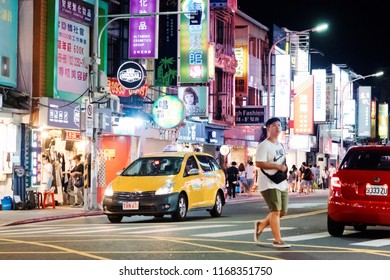 Taipei, Taiwan - August 06, 2018 : Shilin Night Market in Taiwan.  Shilin is one of the major Night Market in Taiwan.