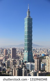 TAIPEI, TAIWAN - DECEMBER 3, 2018: Taipei 101 building in Taiwan. It was the tallest in the world from 2004 to 2010.