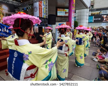 Taipei Taiwan-  The Hakata Gion Yamakasa is one of the most interesting festivals in Japan. It was held in Taipei Sogo department June 6 2019