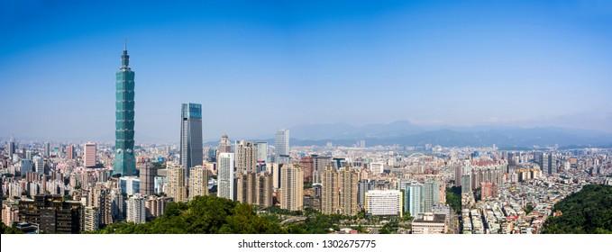 TAIPEI, TAIWAN -January 24, 2019: Taipei 101 Skyscraper in Taipei, TAIWAN.