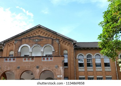 Taipei / Taiwan - Jun. 8, 2018: The baroque style architecture of College of Liberal Art in National Taiwan University, which was built since the period that Taiwan under Japanese rule.
