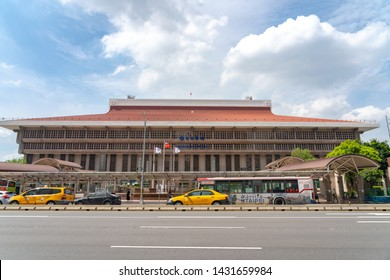 Taipei, Taiwan - June 19, 2019 : Taipei Main station is a major hub in Taipei, handling over half a million passengers daily. Located in Zhongzheng District, Taipei, Taiwan.