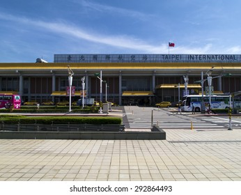 Taipei, Taiwan - JUNE 27, 2015: front view of Taipei Songshan Airport on June 27,2015 in Taipei,Taiwan.