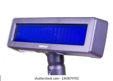 Taipei, Taiwan - March 15, 2019: Cash Register Display on White Background