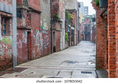Taipei, Taiwan - May 01, 2016: Street view of Bopiliao historical block. Historic city block featuring traditional 18th-century architecture, plus an educational center.