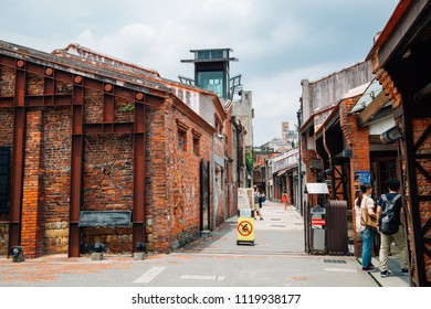 Taipei, Taiwan - May 1, 2018 : Bopiliao Historical Block old street