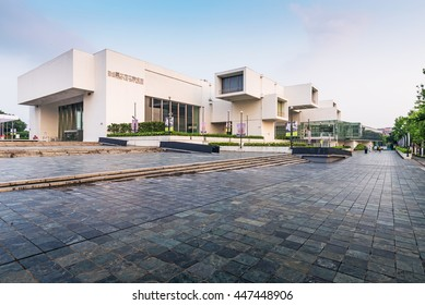 Taipei, Taiwan - May 2, 2016 : View of Taipei Fine Arts Museum in Taipei. it's the first museum in Taiwan built for contemporary art exhibitions.