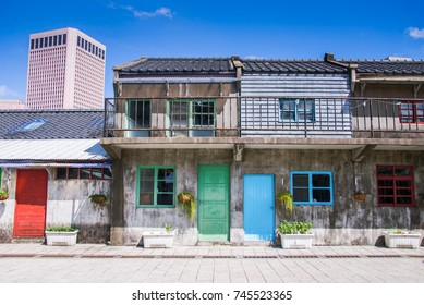 Taipei, Taiwan - OCT 09, 2017 - Sisi nan cun or Old Military Village, Originally a housing complex for soldiers in the Kuomintang army after the relocation to Taiwan