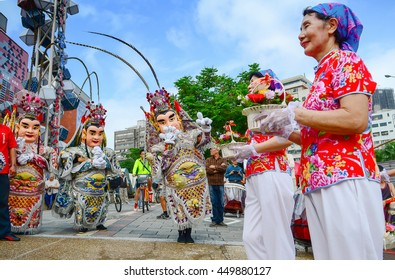 Taipei, Taiwan- October 24, 2015 - Taiwan impression - National Hakka Yimin Festival in Tapei, Taiwan. Tourism event, time for celebration. Ghost festival