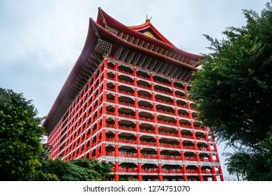 Taipei, Taiwan, Republic of China - December 24, 2018:  Grand Hotel (Yuanshan Great Hotel), Zhongshan District