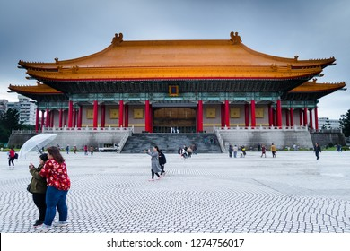 Taipei, Taiwan, Republic of China - December 23, 2018:  National Theatre, Liberty Square, Zhongzheng District