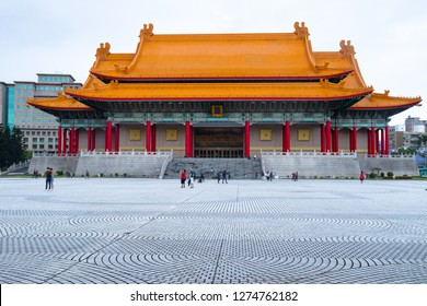 Taipei, Taiwan, Republic of China - December 23, 2018:  National Concert Hall, Liberty Square, Zhongzheng District