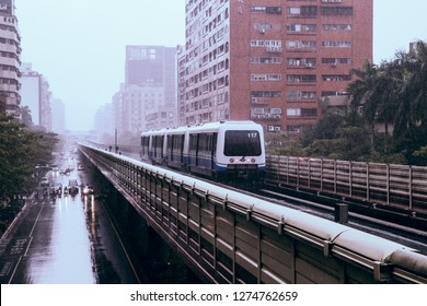Taipei, Taiwan, Republic of China - December 22, 2018:  Taipei MRT