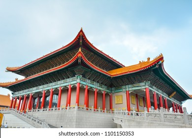 Taipei, Taiwan,17 May 2018 - The National Chiang Kai-shek Memorial Hall is a national monument, landmark and tourist attraction erected in memory of Chiang Kai-shek.