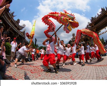 TAIPEI, TAIWAN-JULY 1: The parade of  Xiahai City God in Taipei, Taiwan on July 1, 2012.