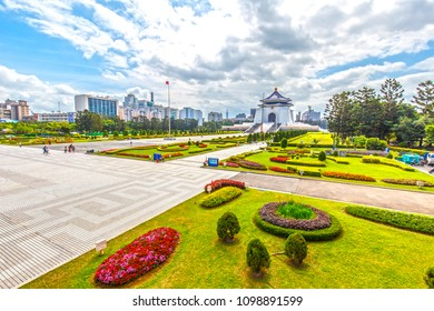 taipei,taiwan - May 10,2018 : The National Chiang Kai-shek Memorial Hall is a national monument landmark.It is located in Zhongzheng District, Taipei, Taiwan.