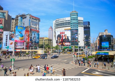 taipei,taiwan - May 10,2018 : Ximending is a neighborhood and shopping district in the Wanhua District of Taipei, Taiwan.