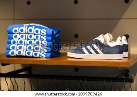 31c7d70d384 TAIPEITAIWAN MAY 19 2018 Product Adidas Original Stock Photo (Edit ...