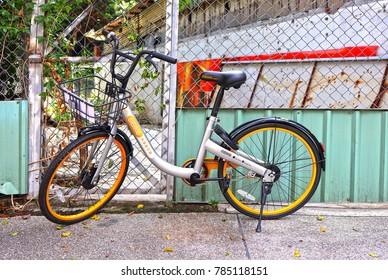 Taipei,Taiwan - Nov 22th,2017 : public bicycle in Taiwan