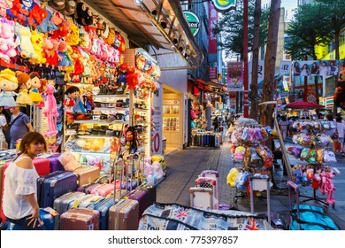 TAIPEI,TAIWAN-AUGUST 21,2017: People walking around Ximending,The famous shopping  of Taiwan.district in wanhua