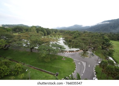 Taiping Lake Garden and city. view from the Roof Bar of Flemington Hotel