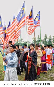 Taiping, Malaysia, 25 August 2017 - Malaysia's Independence Day celebration at the school