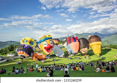 Taitung, Taiwan - July 4, 2018: Taiwan International Balloon Festival at Luye highland