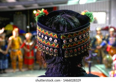 Taitung / Taiwan - Oct. 24, 2018: The Festival of Taiwanese Indigenous people was held in Taitung, Taiwan and the beautiful tribal style headdress.