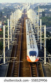 Taiwan Jan.,16 2017: South bone High Speed Rail at sunset time, Taiwan-Jan.,16, 2017
