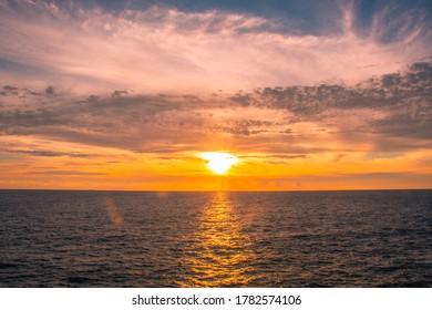 Taiwan Liuqiu Island (lamay island) sunset