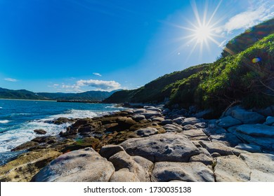Taiwan North Coast Scenery with sunny