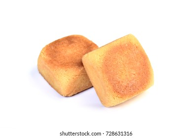 Taiwan pineapple pastry cake on white background