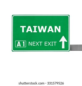 TAIWAN road sign isolated on white