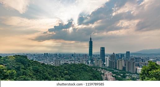 Taiwan Taipei 101 City Scenery Skyline