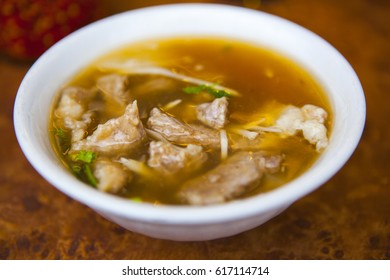 Taiwan traditional cuisine, meat soup