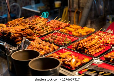 Taiwanese aboriginal cuisine, Meatball, chicken, Pork sausage barbeque skewer