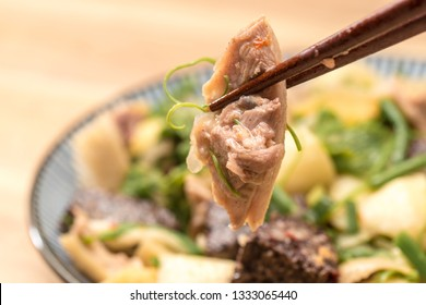 Taiwanese Food, called salty chicken, which is a kind of traditional food that meat or fowl stewed with salty and strained before serving.