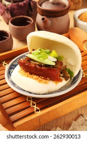 Taiwan's traditional food - Gua Bao (Steamed sandwich )