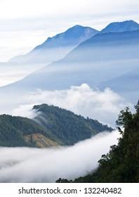 Taiwan's Yushan National Park, mountain views