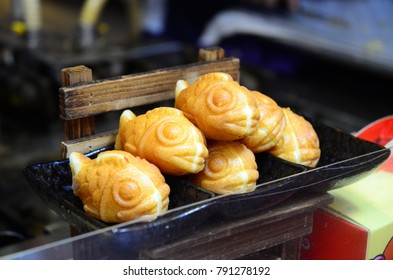Taiyaki (Custard Pastries) For Sale on Concubine Lane - December 2017 - Ipoh, Malaysia