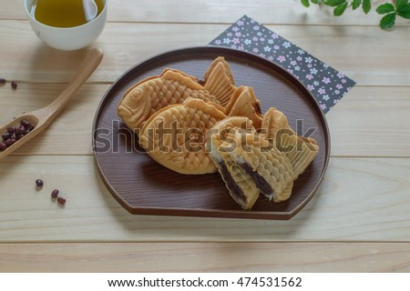 Taiyaki Is A Japanese Fish Shaped Cake The Most Common Filling Red Bean