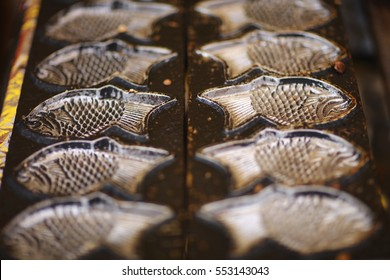 Taiyaki - traditional Japanese pastry. Cookie cutters for baking.