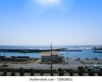 Taiyuzaki Port view from Kamogawa Ocean Park, Chiba Prefecture