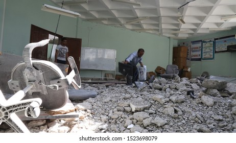 Taiz / Yemen - 08 Apr 2016 : The effects of destruction  in Taiz University After the liberation from militia Al-Houthi   by the National Army.