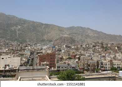 Taiz / Yemen - 22 Sep 2015  : Taiz City- Yemen ,which shows Alqahera historic castle And general footage of the city .