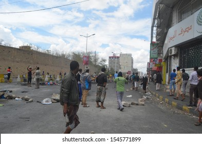 Taiz / Yemen - 24 Mar 2015 : Security forces in Taiz disperse peaceful demonstrations with bullets