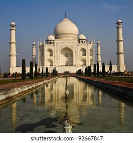 Taj Mahal  at Agra in northern India.