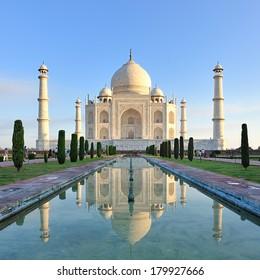Taj Mahal in Agra Uttar Pradesh, India.