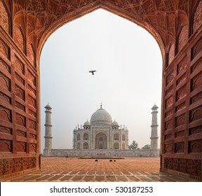The Taj Mahal in Agra, Uttar Pradesh, India.