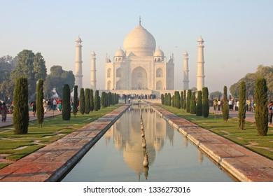 Taj mahal , A famous historical monument  on India